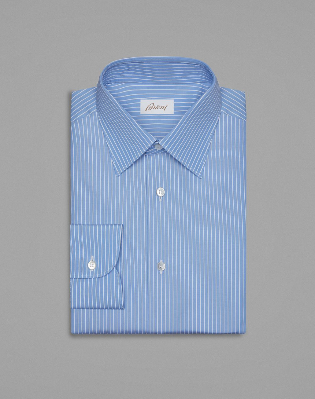 BRIONI Blue Formal Shirt Formal shirt Man f