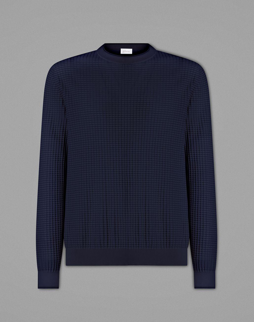 BRIONI Blue Crewneck Sweater Knitwear Man f