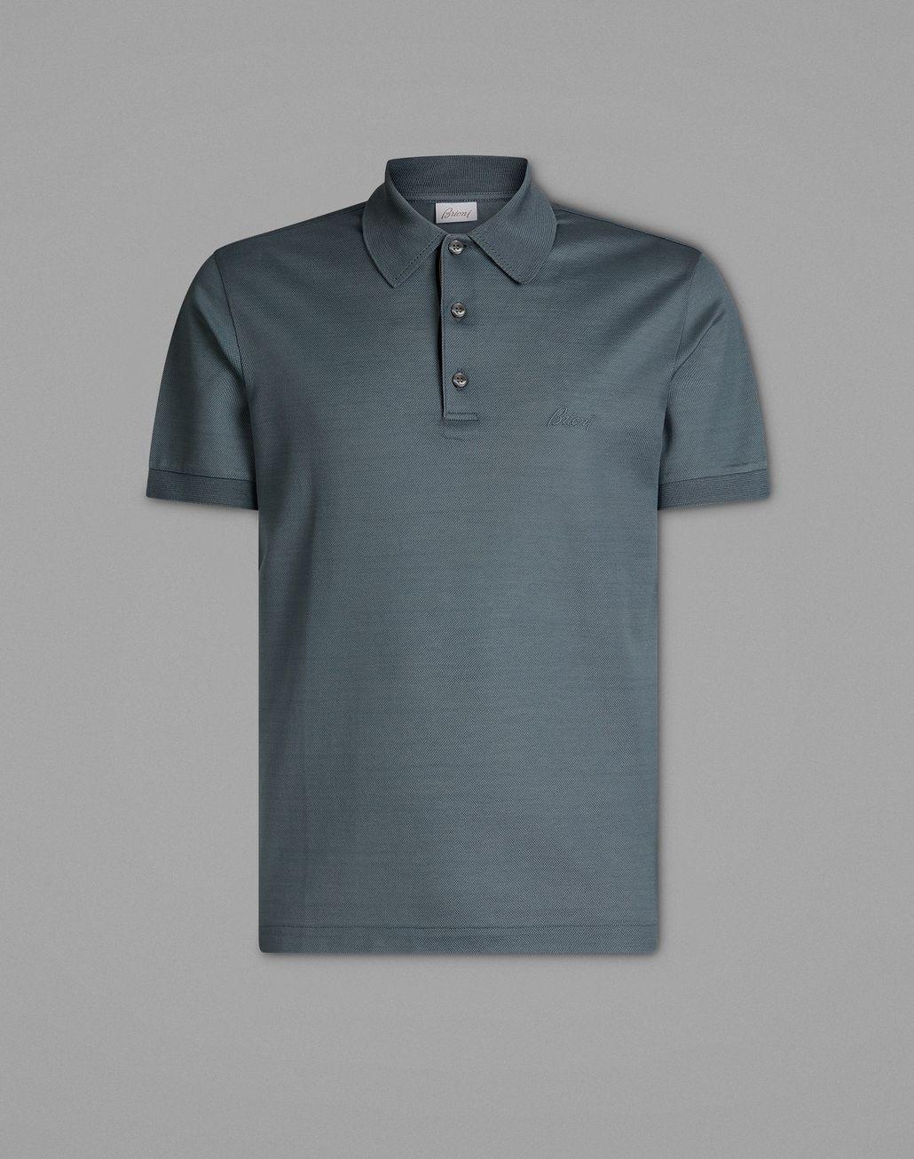 BRIONI Gray Polo Shirt T-Shirts & Polos Man f