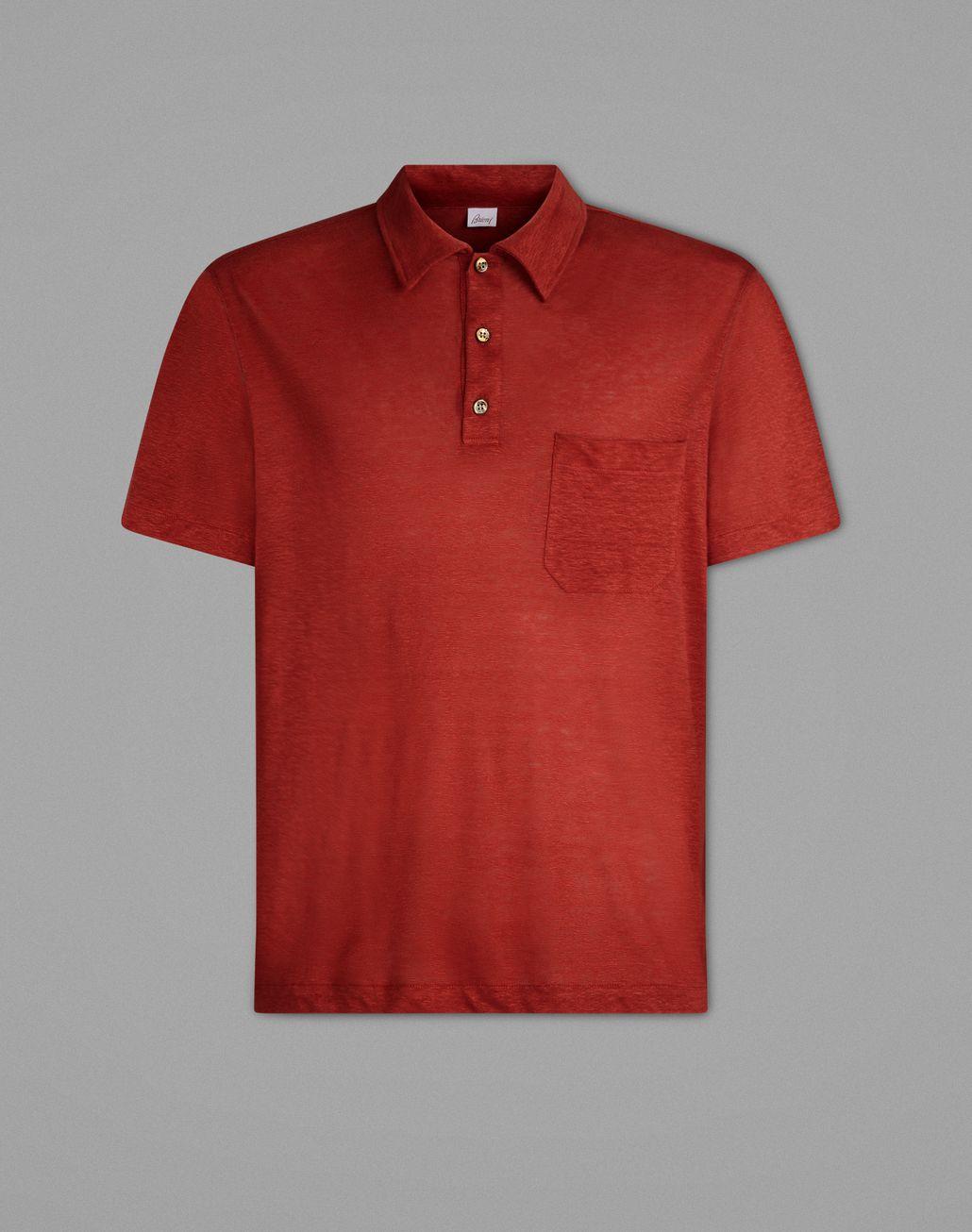 BRIONI Red Polo Shirt T-Shirts & Polos Man f