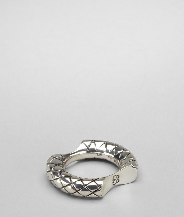 BOTTEGA VENETA Intrecciato Ring Necklace and Ring D fp