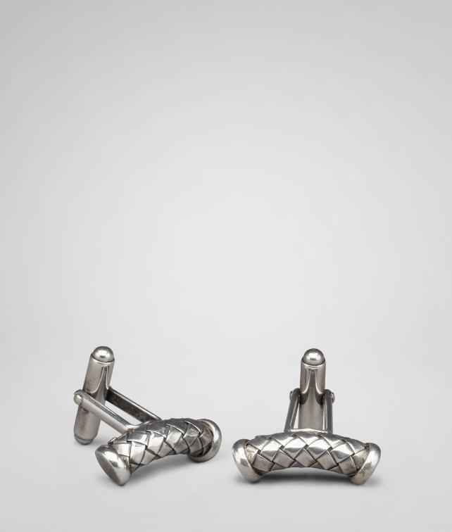 BOTTEGA VENETA Intrecciato Silver Cufflinks Cufflinks U fp