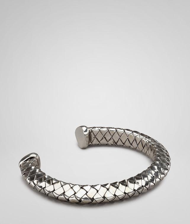 BOTTEGA VENETA Intrecciato Silver Bracelet Bracelet U fp