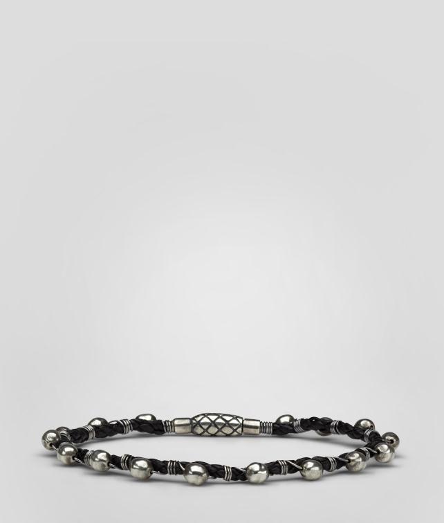BOTTEGA VENETA Intrecciato Oxydized Silver Nappa Bracelet Bracelet U fp