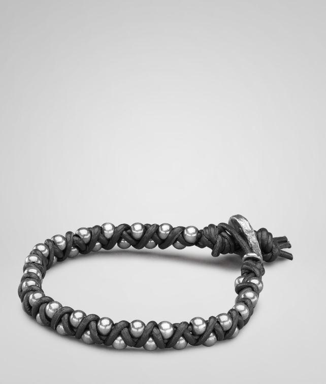BOTTEGA VENETA Oxydized Silver Nappa Bracelet Bracelet U fp