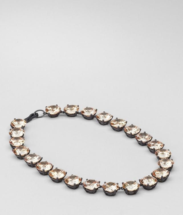 BOTTEGA VENETA Naturale Zircon Oxidised Silver Necklace Necklace D fp