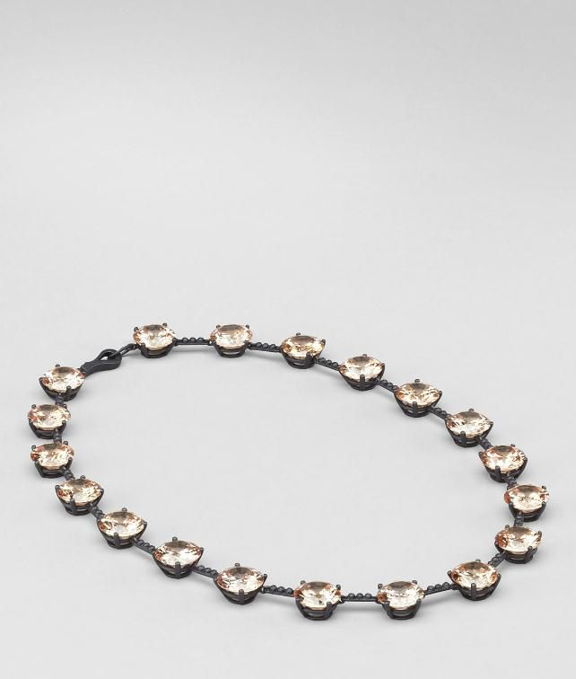 BOTTEGA VENETA Oxydized Zircon Necklace Necklace D fp