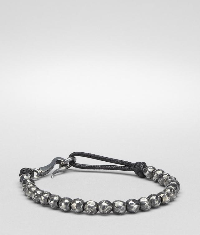 BOTTEGA VENETA Nero Oxydized Silver Nappa Bracelet Bracelet U fp