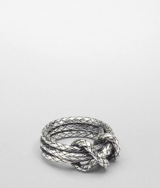 BOTTEGA VENETA Intrecciato Ring Necklace and Ring D fp