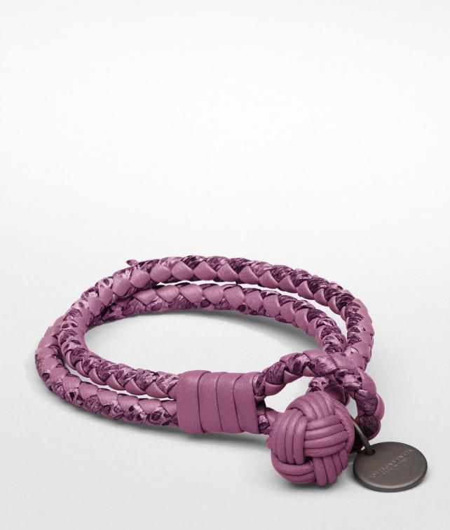 BOTTEGA VENETA Intrecciato Ayers Nappa Key Ring Leather Bracelet D fp
