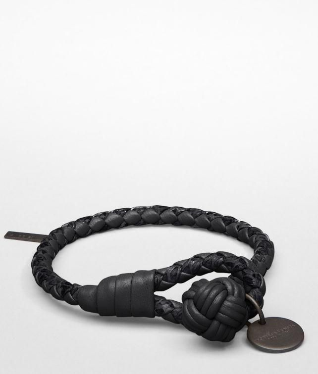 BOTTEGA VENETA Intrecciato Ayers Nappa Key Ring Leather Bracelet E fp