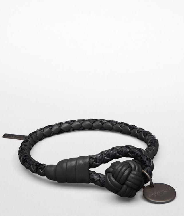 BOTTEGA VENETA Intrecciato Ayers Nappa Key Ring Leather Bracelet E fp