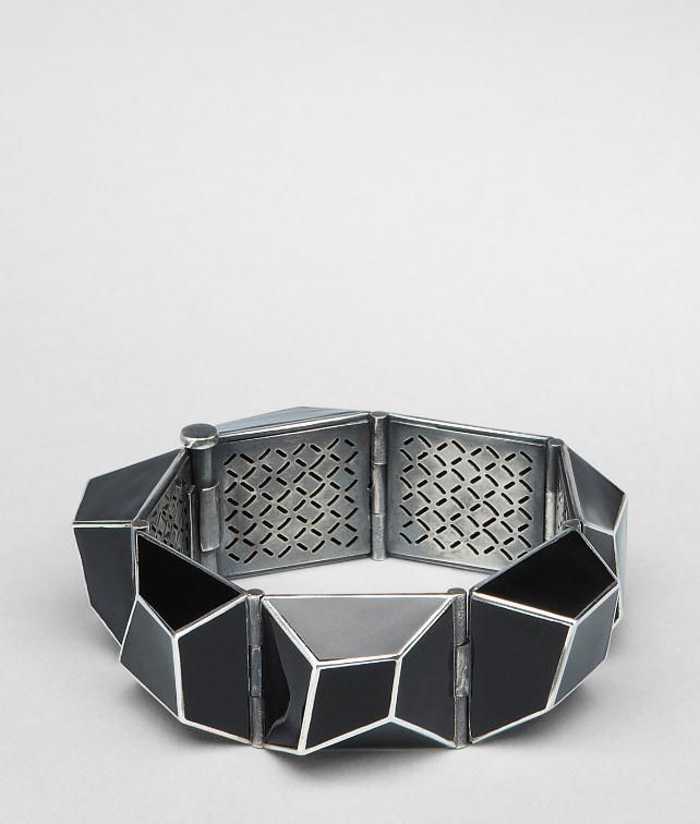 BOTTEGA VENETA Enamelled Antique Silver Bracelet Bracelet D fp