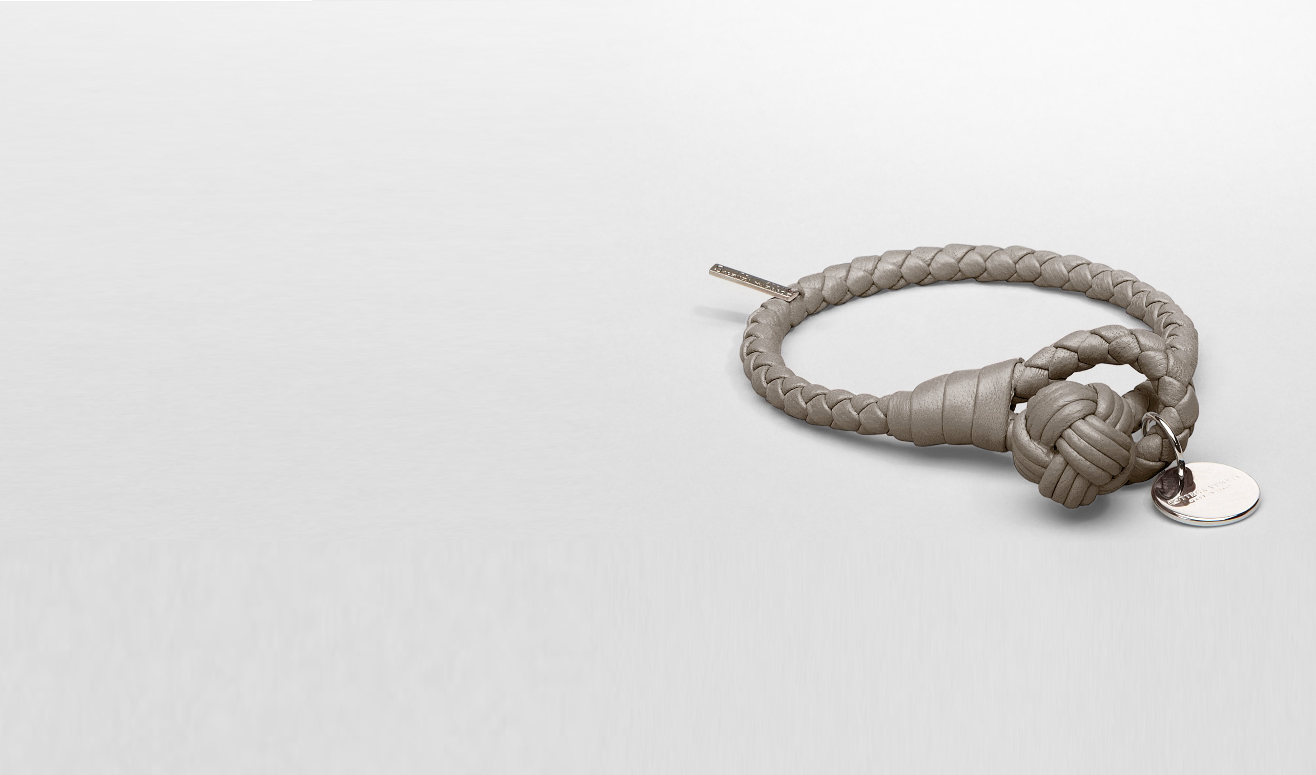 BOTTEGA VENETA Other Leather Accessory E Fume Intrecciato Nappa Bracelet pl