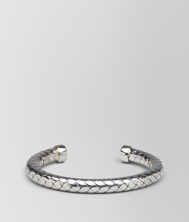 BOTTEGA VENETA BRACELET IN SILVER INTRECCIATO SILVER Bracelet D fp