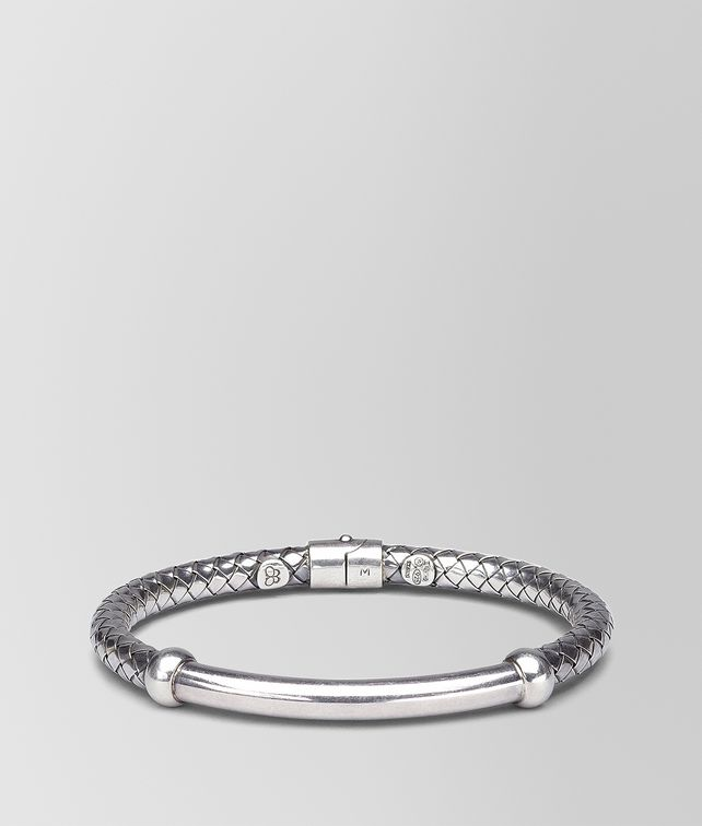 BOTTEGA VENETA BRACELET IN INTRECCIATO SILVER Bracelet Woman fp