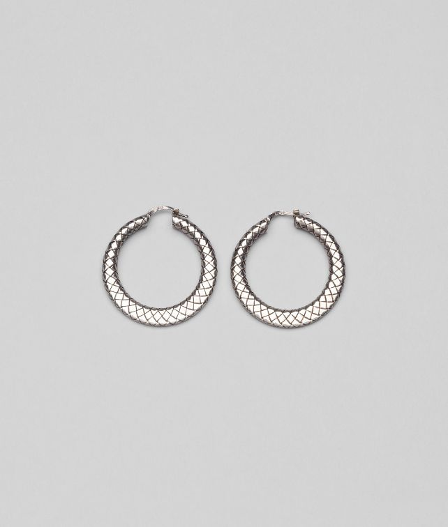 BOTTEGA VENETA EARRINGS IN INTRECCIATO SILVER Earrings D fp