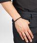 BOTTEGA VENETA Nero Intrecciato Antique Silver Nappa Bracelet Bracelet U ap