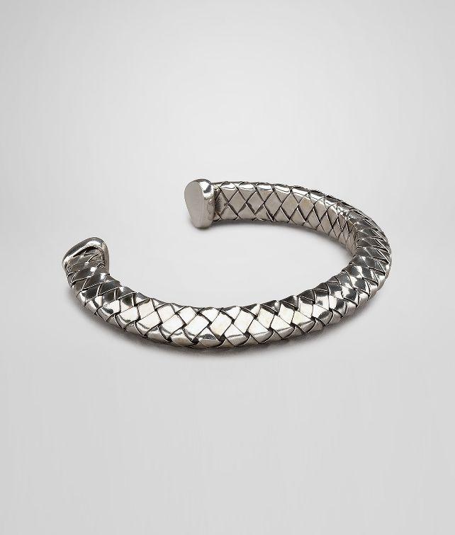 BOTTEGA VENETA Antique Intrecciato Silver Bracelet Bracelet U fp