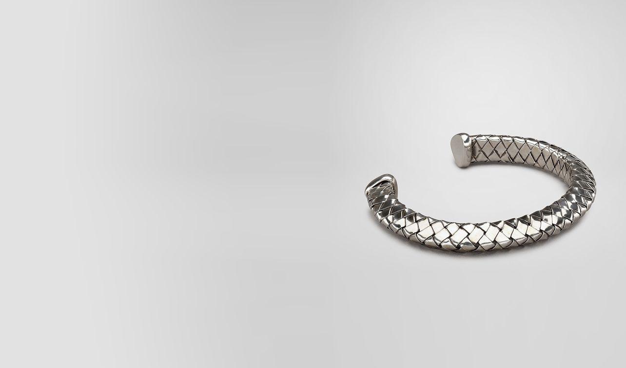 BOTTEGA VENETA Bracelet U Antique Intrecciato Silver Bracelet pl