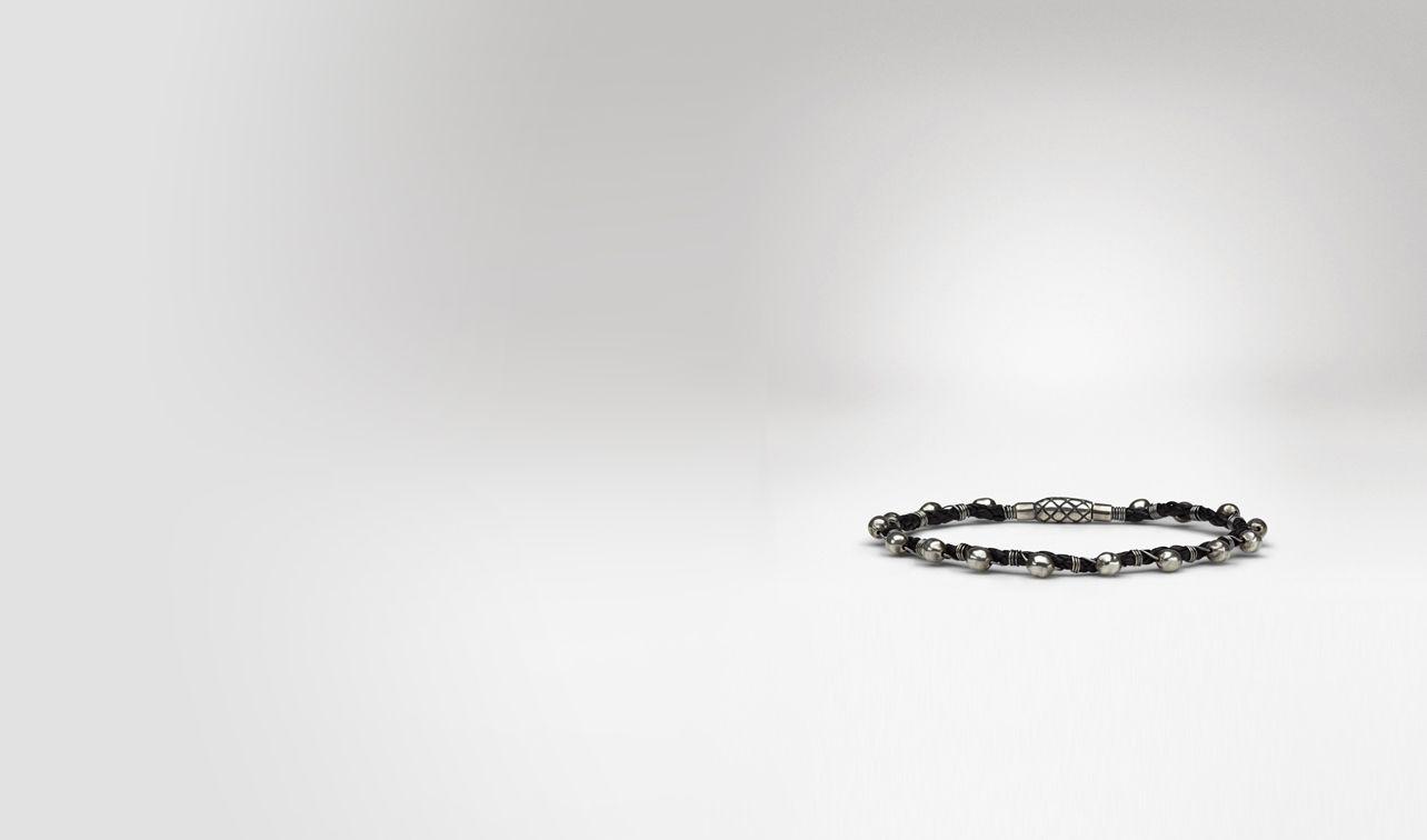 BOTTEGA VENETA Bracelet U Intrecciato Oxydized Silver Nappa Bracelet pl