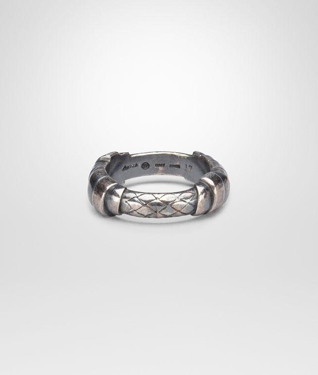 BOTTEGA VENETA Ring aus oxidiertem Silber Intrecciato Kette und Ring U fp