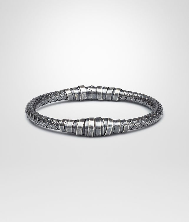 BOTTEGA VENETA Armband aus oxidiertem Silber Intrecciato Armband U fp