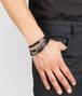 BOTTEGA VENETA BRACELET IN NERO CALF AND SILVER Bracelet U ap