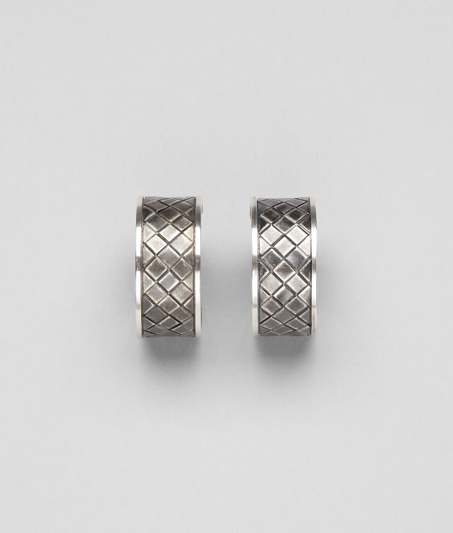 BOTTEGA VENETA Intrecciato Antique Silver Earring Earrings D fp