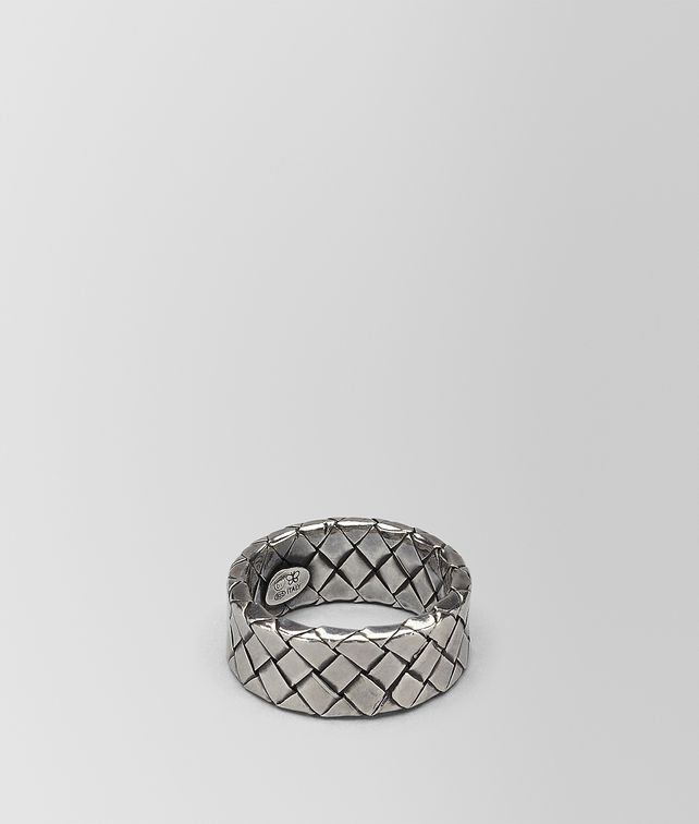 BOTTEGA VENETA INTRECCIATO SILVER RING Ring Woman fp