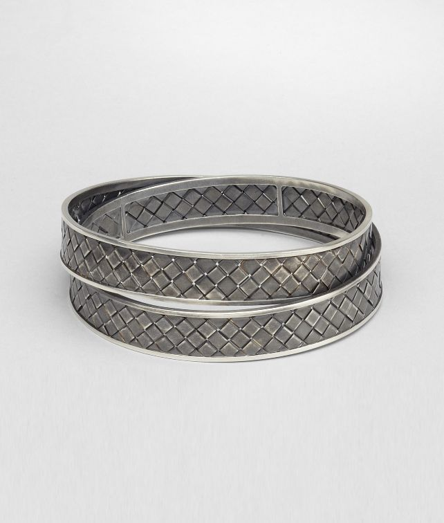 Bottega Veneta Intrecciato Antique Silver Bracelet Pickupinshipping Info