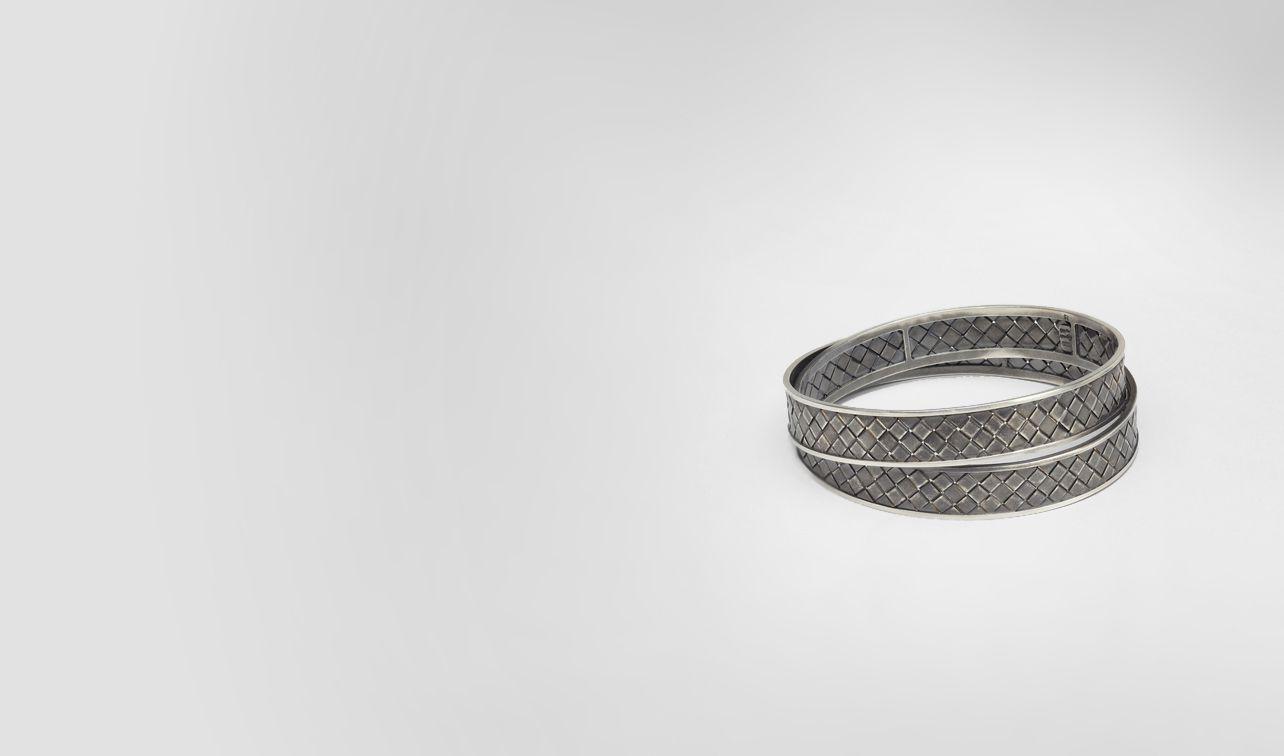 BOTTEGA VENETA Bracelet D Intrecciato Antique Silver Bracelet pl