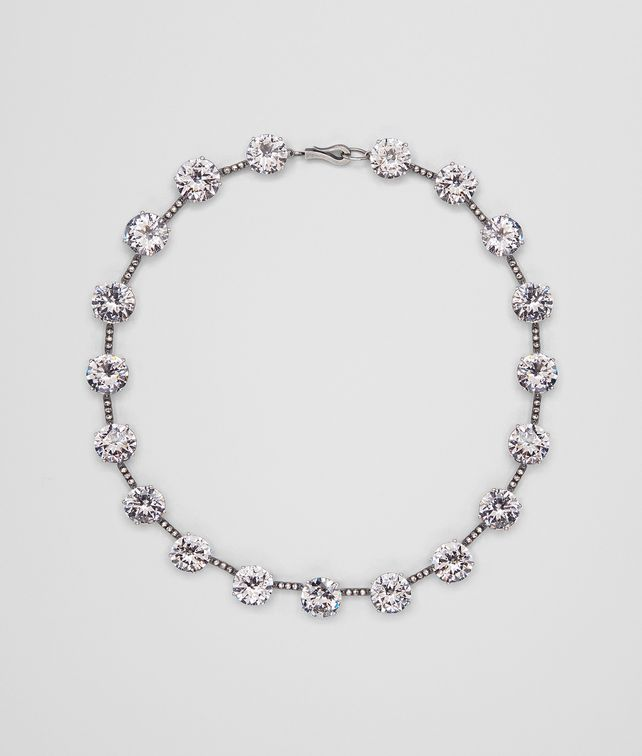 BOTTEGA VENETA NECKLACE IN SILVER AND STONES Necklace D fp