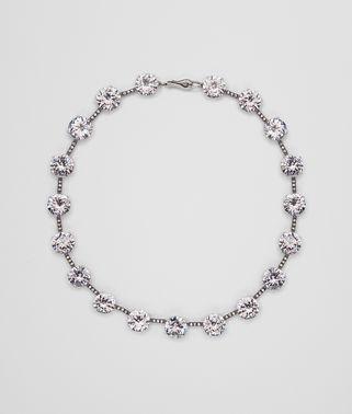 NECKLACE IN SILVER AND STONES