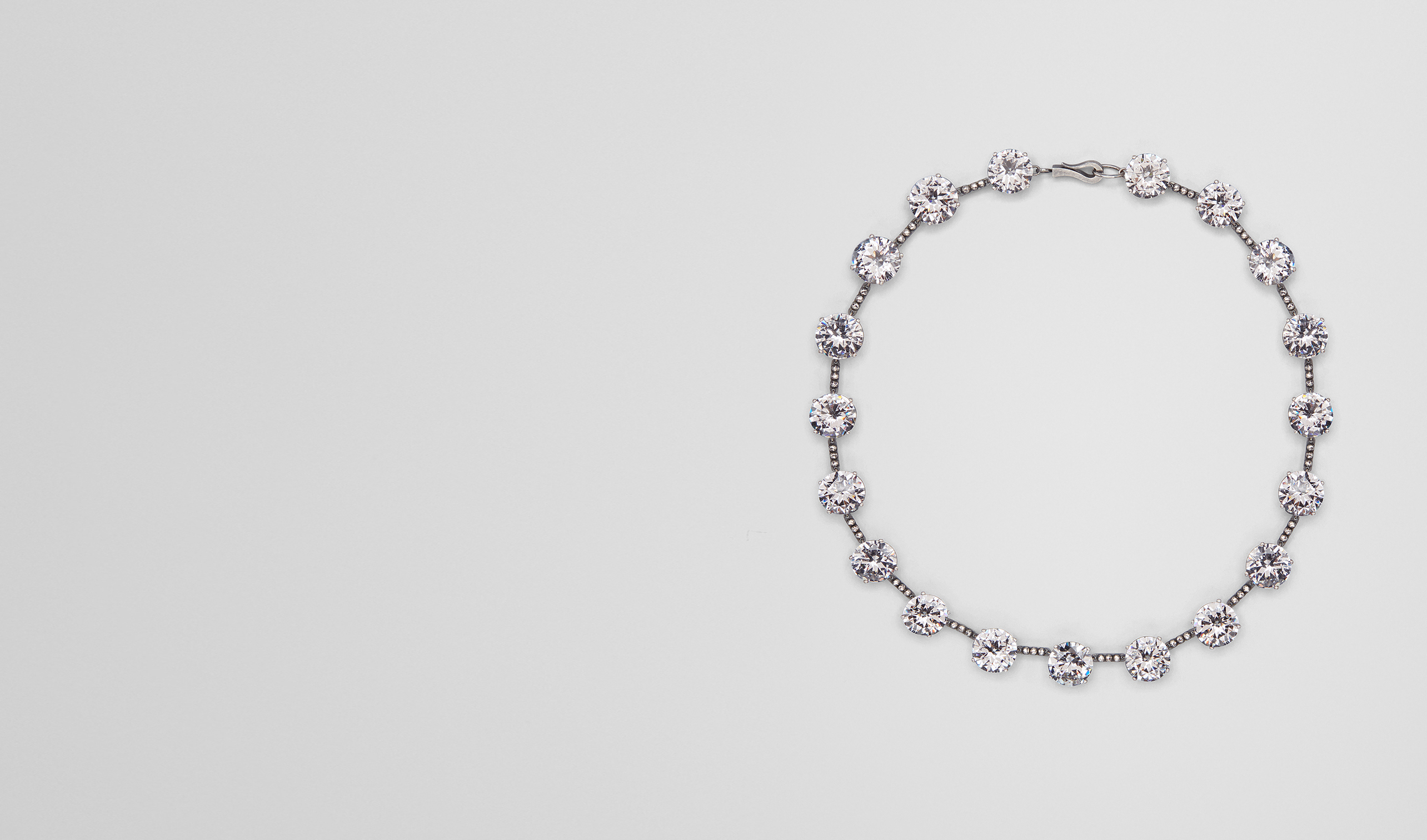 BOTTEGA VENETA Necklace D NECKLACE IN SILVER AND STONES pl