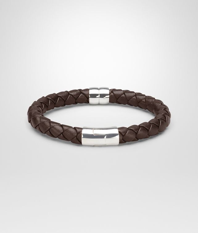 img products on tonal brown double original knot intrecciato bracelet bottega veneta nappa