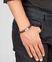 BOTTEGA VENETA Ebano Intrecciato Antique Silver Nappa Bracelet Bracelet U ap