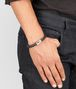 BOTTEGA VENETA BRACELET IN NERO INTRECCIATO NAPPA AND SILVER Bracelet Man ap