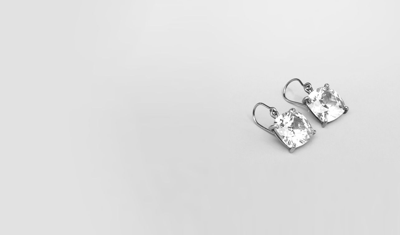 BOTTEGA VENETA Earrings D Naturale Oxydized Zircon Earring pl