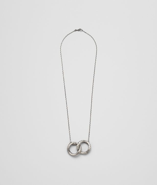 BOTTEGA VENETA PENDANT IN INTRECCIATO SILVER Necklace D fp