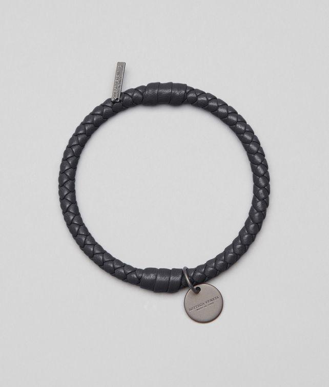 BOTTEGA VENETA Bracelet Nero en nappa Intrecciato Porte-clé ou Bracelet E fp