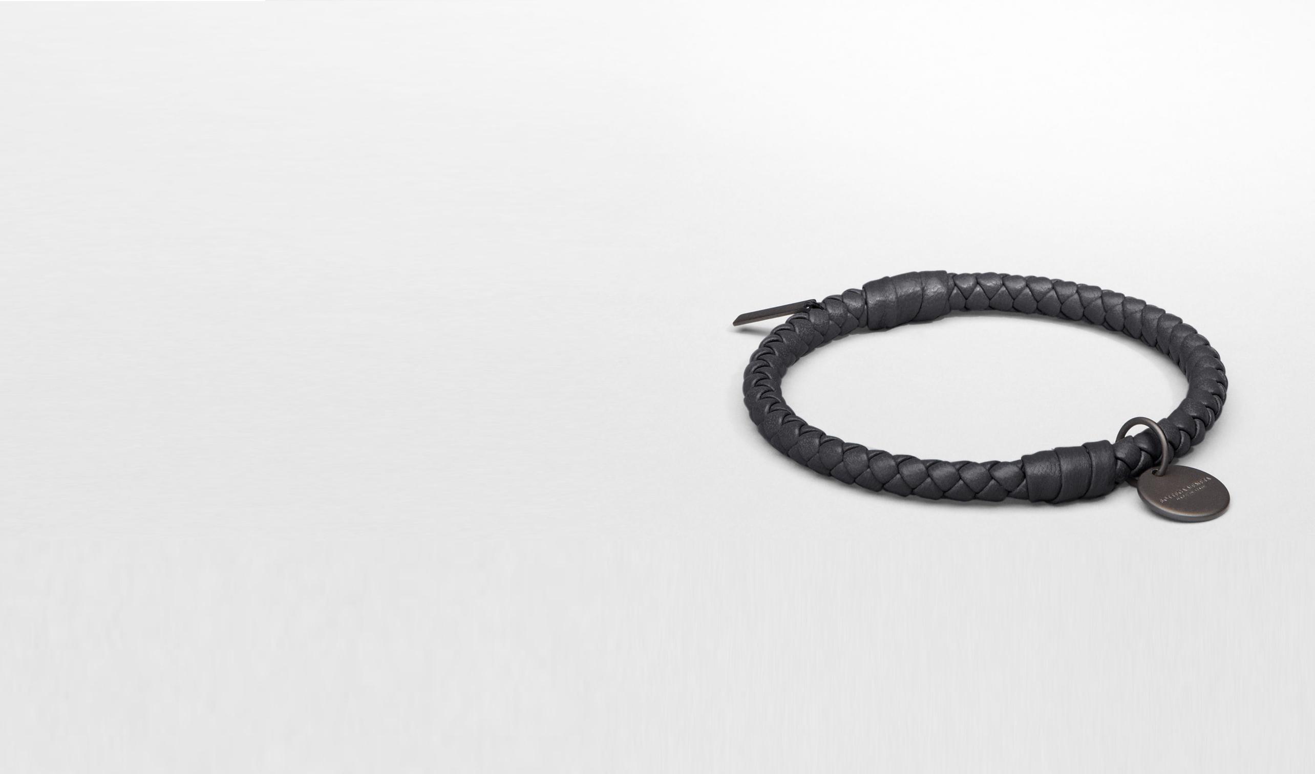 BOTTEGA VENETA Keyring or Bracelets E Nero Intrecciato Nappa Bracelet pl
