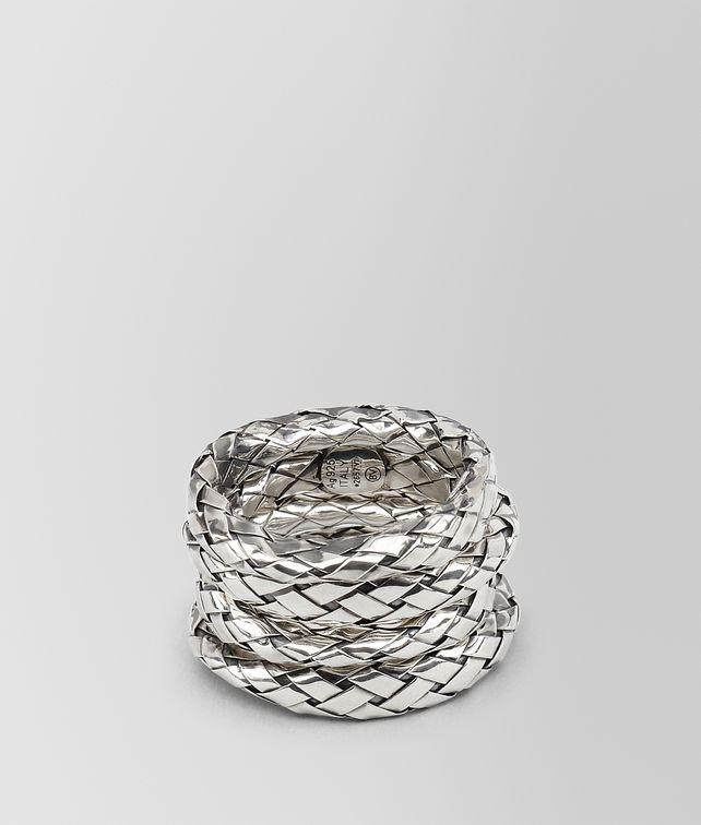 BOTTEGA VENETA RINGS IN INTRECCIATO SILVER Ring D fp