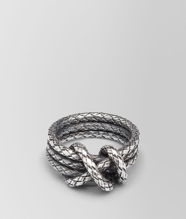 BOTTEGA VENETA RING IN INTRECCIATO SILVER  Ring Woman fp