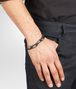 BOTTEGA VENETA BRACELET IN NERO NAPPA AND SILVER  Bracelet U ap