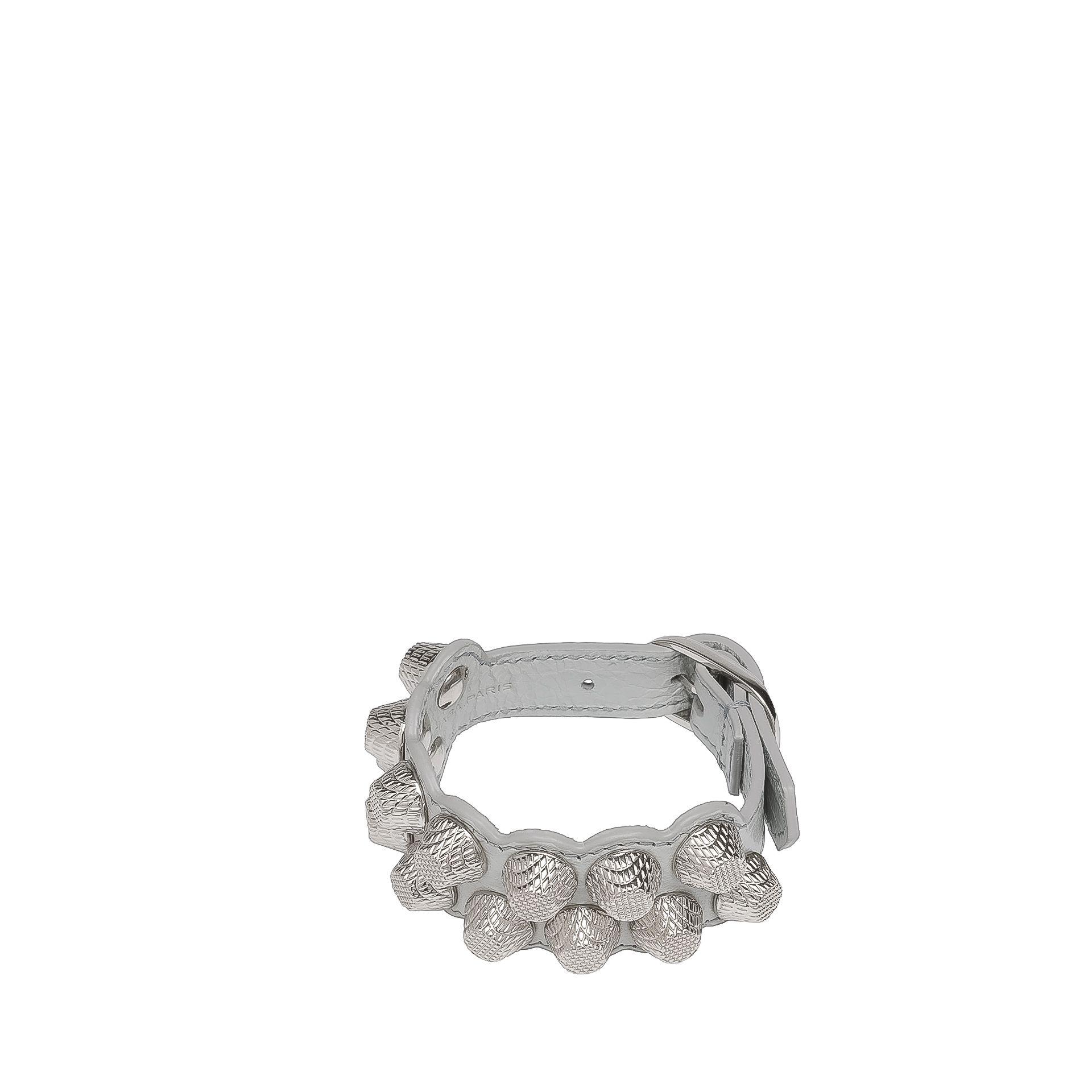 BALENCIAGA Balenciaga Giant Silver Bracelet Stud M  Bracelet D f