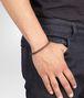 BOTTEGA VENETA BRACELET IN EBANO INTRECCIATO NAPPA AND SILVER Bracelet U ap