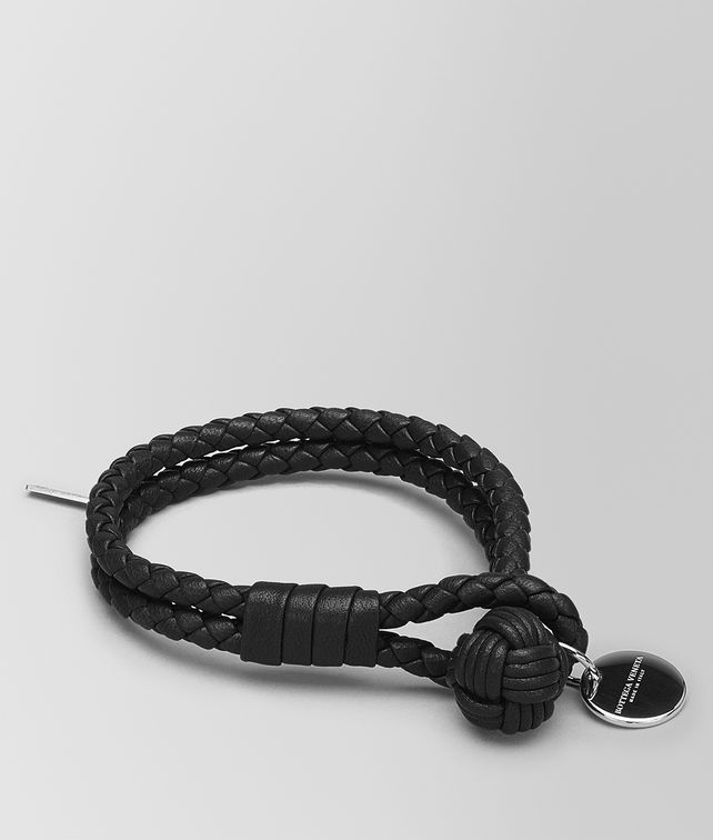 BOTTEGA VENETA BRACELET IN NERO INTRECCIATO NAPPA Other Accessories E fp