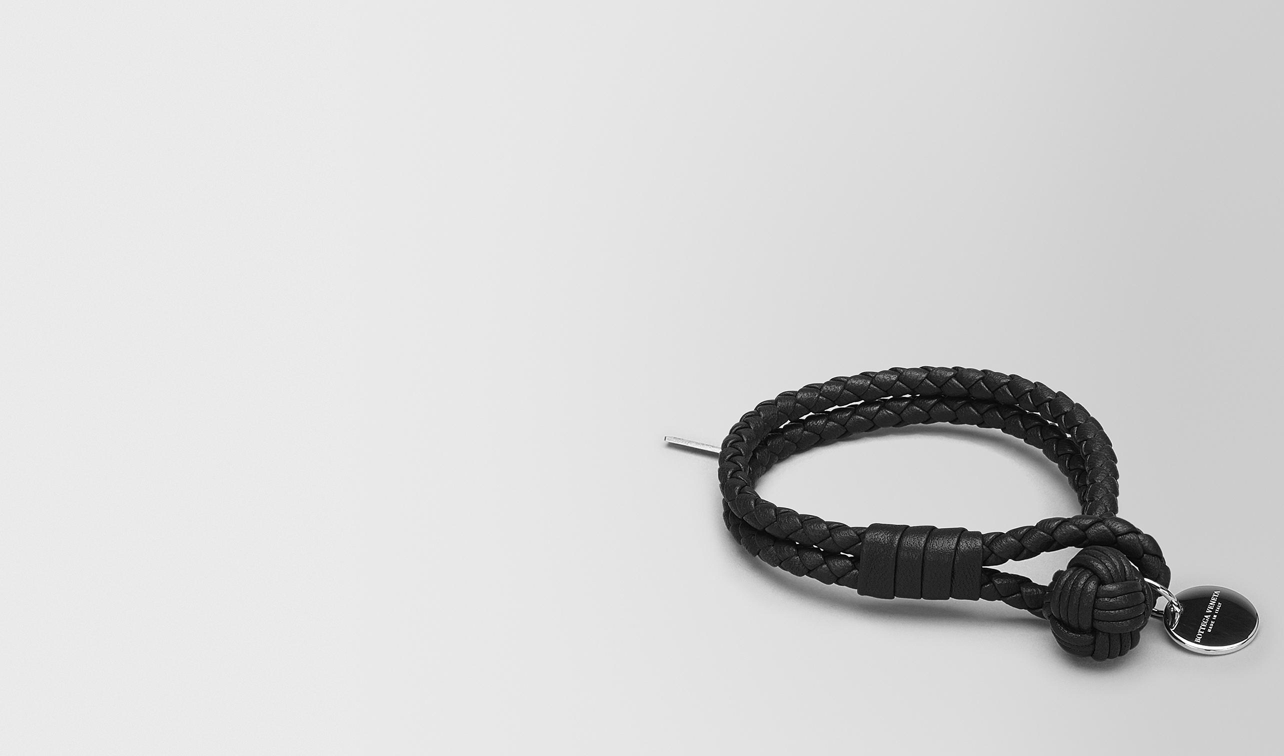 BOTTEGA VENETA Keyring or Bracelets E BRACELET IN NERO INTRECCIATO NAPPA pl