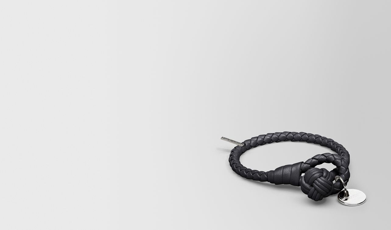 bracelet in nero intrecciato nappa landing